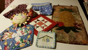 Boutique table Items for sale at the Quilt Show