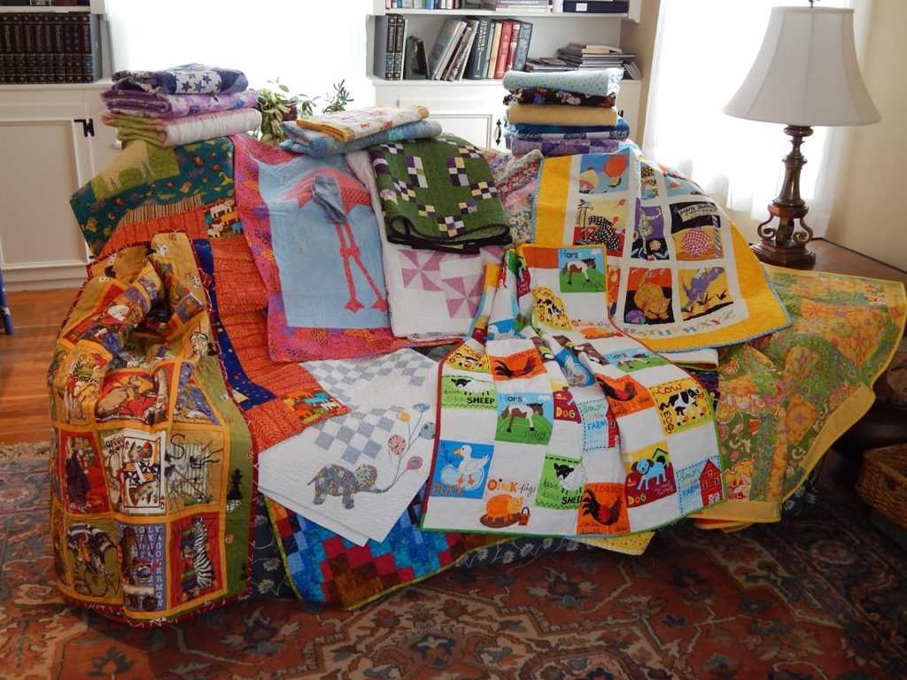 Quilts donated to Gabriel's Angels